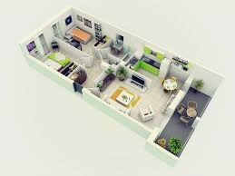 Bright Inspiration 14 3d Home Design Ground Floor 25 More 2 Bedroom 3D Plans