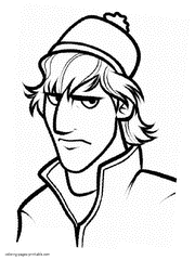 Kristoff Free Printable Coloring Pages Frozen