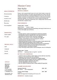 Hair stylist resume example sample trimming cutting beards