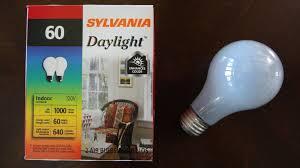 sylvania 60watt daylight incandescent light bulbs