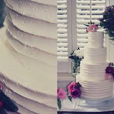 Buttercream Wedding Cake White Simple With Fresh