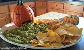 Puking Pumpkin Guacamole Recipe by Hopelessly Ever After Taste Of Tuesday Brain Dip
