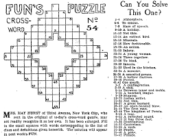 Newspaper Crossword Puzzles & More Games Our Ancestors Played