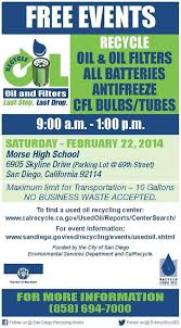 san diego esd on used filter recycling event