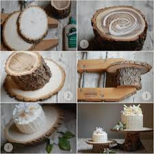 Rustic Wood Tree Cake Stand Diy