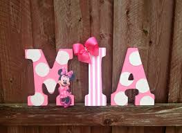 9 Pink And White Minnie Mouse Character Letter By GlitzyPrincesses 1000 Room DecorMinnie