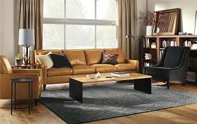 living room alluring light brown leather sofa decorating ideas