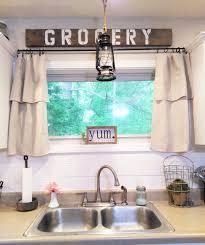 Homeongrassyroad Drop Cloth Curtains Modern Farmhouse Kitchen