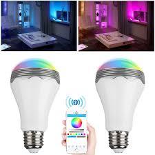 kilimall excelvan a65 7w rgb wireless bluetooth smart led light