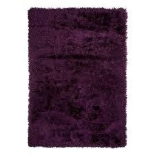 tapis aubergine pas cher grand tapis design shaggy aubergine 200x290cm monbeautapis