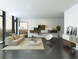 moderne wohnzimmer innenraum mit großen fenster