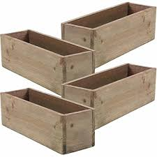 Wooden Planter Box Rustic Barn Wood Plastic Liner Garden Decor Restaurant And