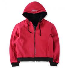 reversible hoodie black red