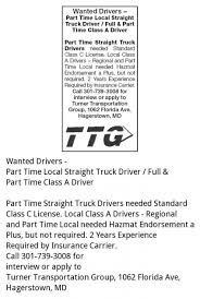 Drivers (PT & FT), Turner Transport Group, Hagerstown, MD Company Driver Information Shoreside Logistics Home Shelton Trucking Cdl Jobs Garys Job Board Baylor Join Our Team Ex Truckers Getting Back Into Need Experience Earn Big With Local Truck At Pritchett Long Short Haul Otr Services Best 5 Things You To Become A Success How Much Do Drivers Make Salary By State Map Experienced Faqs Roehljobs Top Largest Companies In The Us Indian River Transport