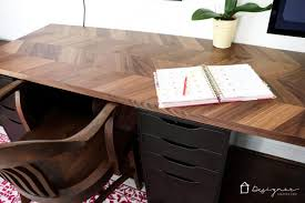 Ikea Computer Desk Hack by Easy And Gorgeous Ikea Desk Hack Designer Trapped