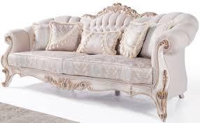 casa padrino luxus barock wohnzimmer sofa mit kissen hellgrau weiß antik bronze 243 x 89 x h 106 cm barock möbel