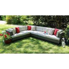 Camilla 4 Piece All Weather Wicker Patio Sectional With Sunbrella Fabric