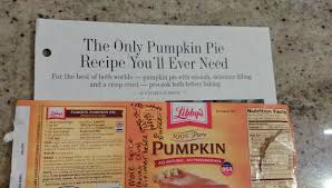 Libbys Canned Pumpkin Nutrition Facts by Gin Kilgore Dash To The Start