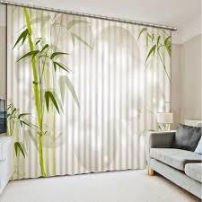 schöne bambus muster blackout 3d vorhänge für schlafzimmer