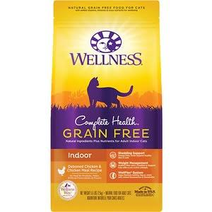 Wellness Complete Health Grain-Free Indoor Deboned Chicken Recipe Dry Cat Food, 5.5-lb