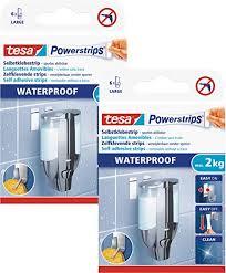 tesa powerstrips waterproof wasserfeste klebestreifen max 2 kg spurlos wieder ablösbar 2x feuchträume