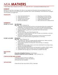 Front Desk Receptionist Resume Salon by Best Salon Spa Or Fitness Manager Resume Example Livecareer