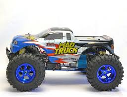 100 Mad Truck 110 4X4 RTR MONSTER MAD TRUCK RC OFF ROAD BLUE 30 40MPH