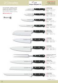 coutellerie professionnelle cuisine 1552 couteaux de cuisine bavaria 3 claveles coutellerie
