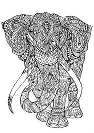 Detailed Coloring Pages Animals Elephant