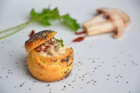 p choux au pavot farcis aux chignons aux tomates séchées