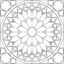 Notre Dame South Rose Window Coloring Page Would Be A Fantastic Embroidered Seat Cushion For The Kitchen