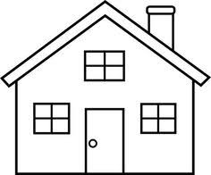 Any Simple Drawing Is Good For Coloring DictationOutline Of A House