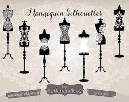 Vintage Dress Form Clipart Shilouette
