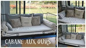 canape pour coussins pour canapé lit la cabane aux ours