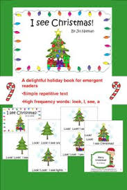Christmas Tree Books For Kindergarten by Look At The Christmas Lights Kindergarten Emergent Reader Book