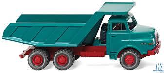 100 Blue Dump Truck Wiking 1969 MAN 26281 Assembled Water Red