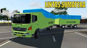 100 Game Trucks Hino Gandengan Bak IDBS Indonesia Truck Simulator V21 Truck
