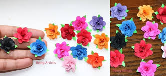 How To Make Small Paper Rose Flower DIY Handmade Craft