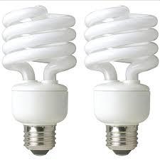tcp 60 watt equivalent daylight spiral non dimmable cfl light bulb