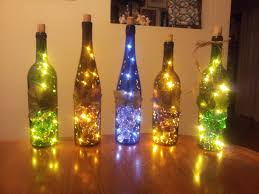 Decorative Wine Bottles With Lights by Wine Bottle Lamp Night Light Accent Piece Recycled Wine