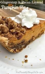 Gingersnap Pumpkin Pie Crust by Gingersnap And Pecan Layered Pumpkin Pie Recipe