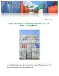 100 Used Shipping Containers For Sale In Texas Tips On Finding For From