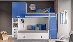 inhouse srls schlafzimmer bügel weiß und blau mit zwei