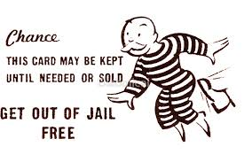 Get Out Of Jail Free Card Black And White