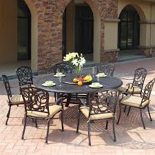 Darlee Patio Furniture Quality by Shop Darlee Florence 9 Piece Antique Bronze Aluminum Patio Dining