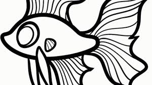 Easy Fish Drawing How To Draw A Betta For Kids Step Animals