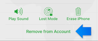 iCloud Remove your device from Find My iPhone