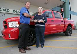 100 Menards Truck Persistence Pays Bluffs Woman Wins New Truck From Good