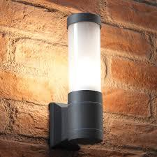 auraglow 5w outdoor garden wall light ottershaw grey