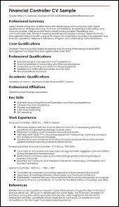 Financial Controller CV Sample